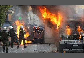 Resolved: Violent revolution is a just response to political oppression (File)